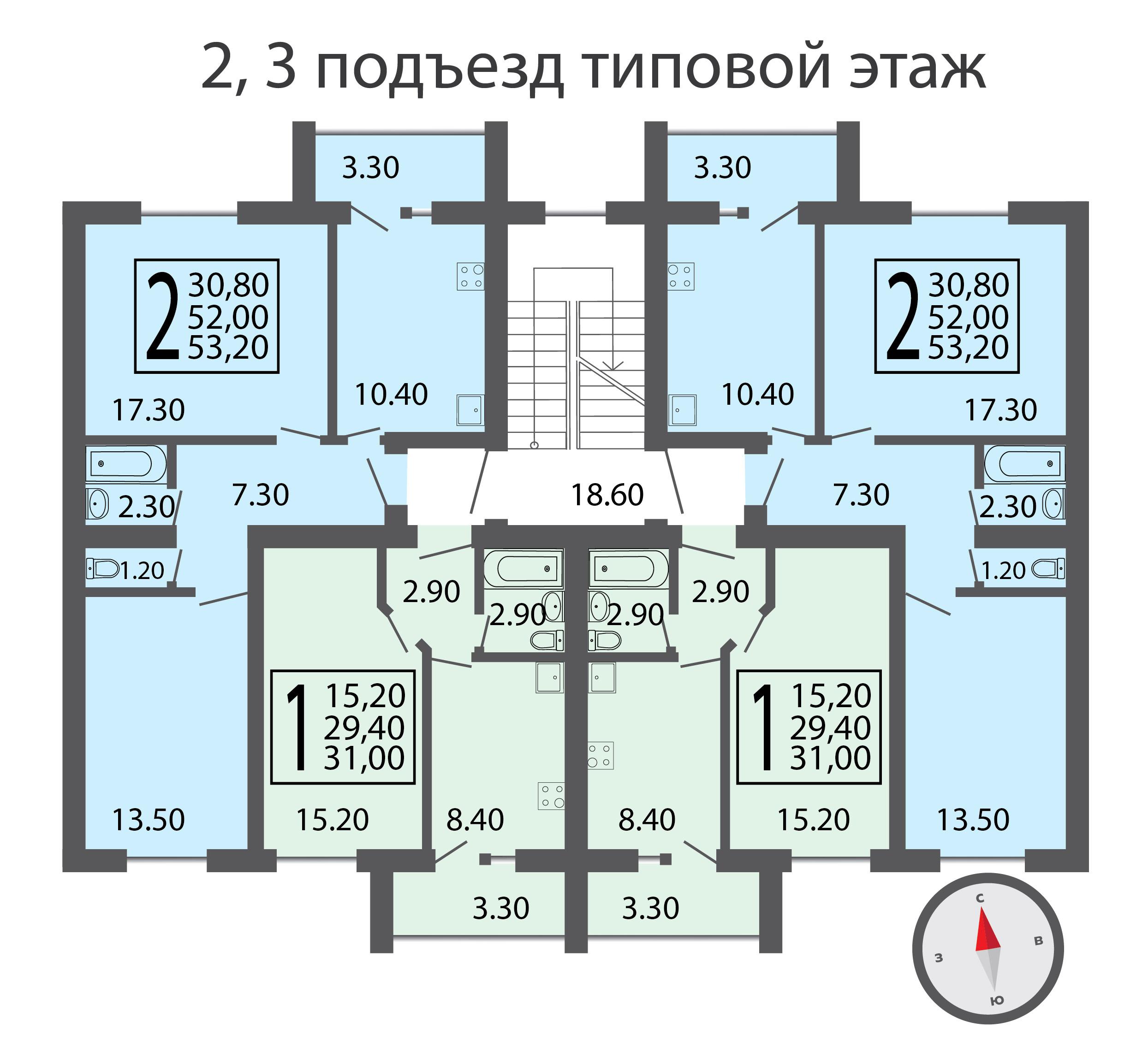 2,3 подъезд типовой этаж-01