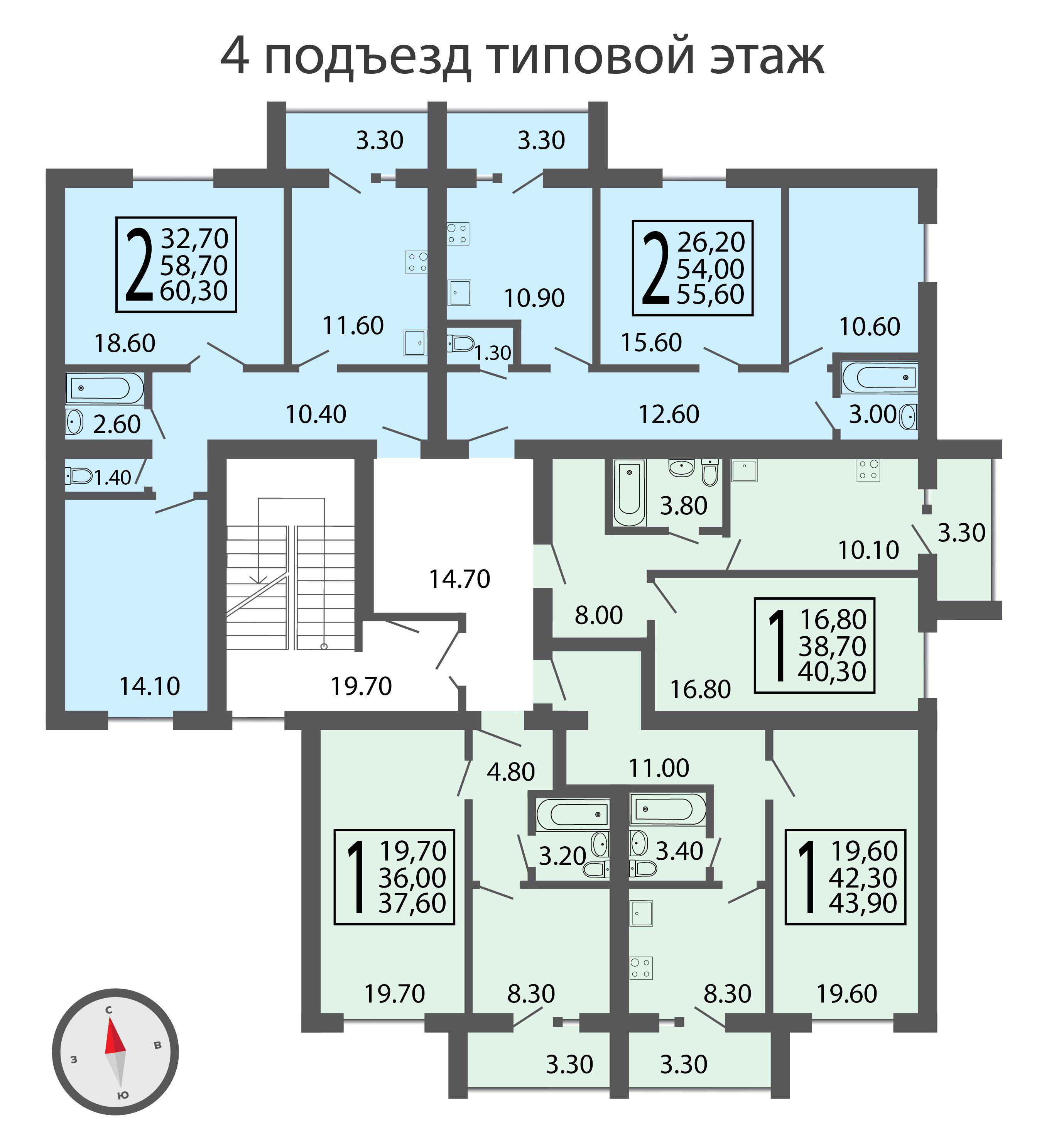 4 подъезд типовой этаж-01