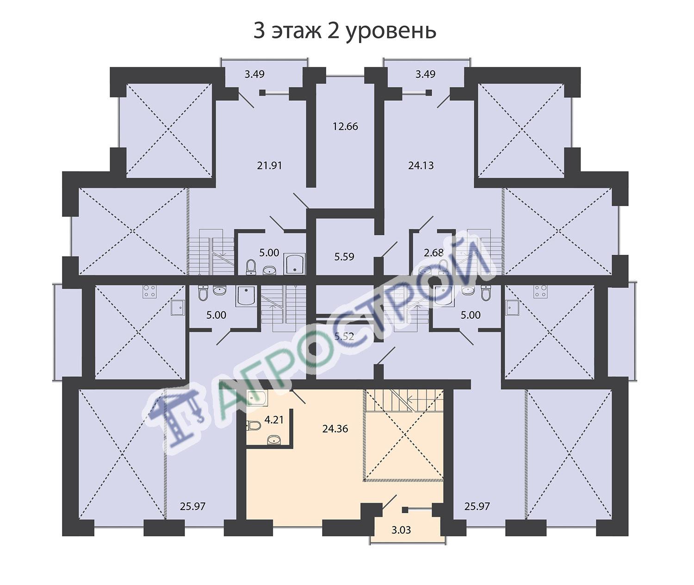 3 этаж 2 уровень